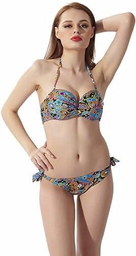 ZHWEI Maillot De Bain Femme Mode Européenne Et Américaine Impression Sexy Maillot De Bain Maillot De Bain Dos Ouvert Maillot De Bain Maillot De Bain Bikini (Taille   L)