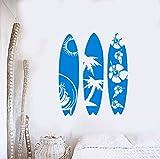42X51Cm Etiqueta De La Pared Del Vinilo De La Tabla De Surf Calcomanías De Vinilo Extraíble Ventana Del Coche Tablas De Surf Pegatinas Decoración Del Hogar