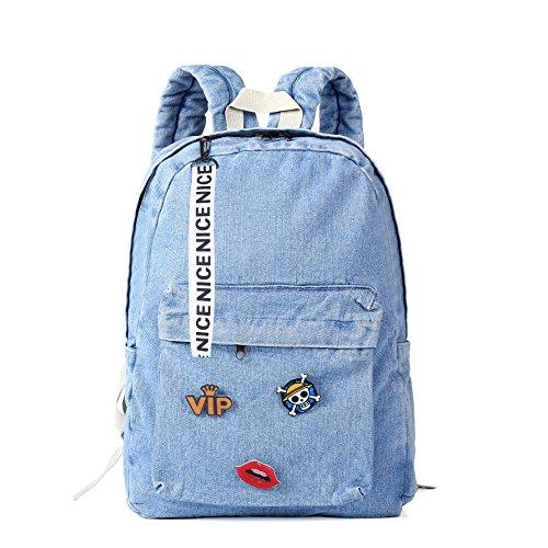 Denim Backpack for girls, women Classic Retro Bookbags children teen School Bag Jeans Backpack for college