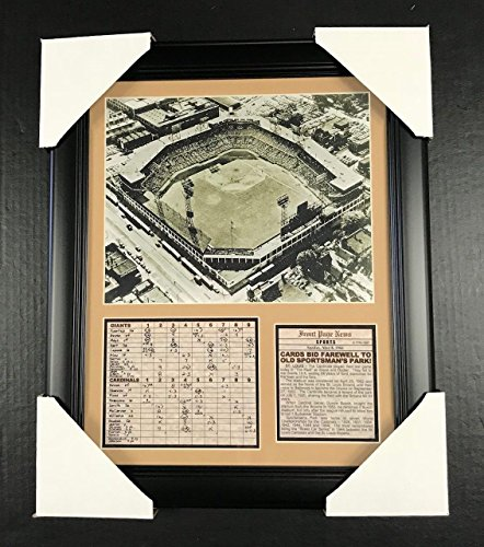 11x14 Framed & Matted Farewell To Old Sportsman Park 1966 ST LOUIS CARDINALS 8X10 PHOTO