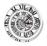 Menddy Get It Lost Time Vortexclock Círculo De Tiempo Vintage Clásico Reloj De Pared Cuarzo Números Romanos Silenciosos Reloj De Pared Decoración para El Hogar Reloj 30x30cm