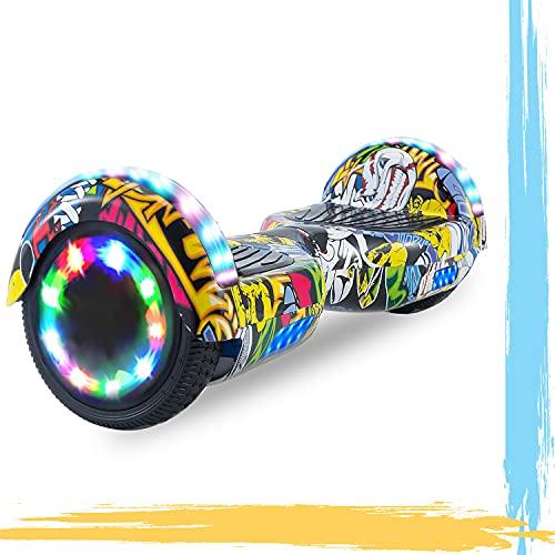 """MJK Hoverboard - 6,5"""" - Bluetooth - LED - Self Balancing Board Adulte - 700W - Smart Scooter Deux Roues - Skate Électrique Cadeaux Pas Cher-Adulte et Enfant-Hip Hop"""