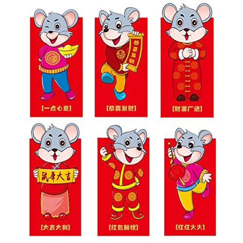 Botton Style STOBOK 5pcs Chinese Red Envelopes Lucky Money Gift Envelopes Chinese New Year Hong Bao Lucky Money Packets 2020 New Year Christmas Wedding Birthday Party Gifts