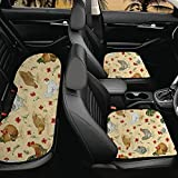 Jeiento Cojín de asiento transpirable para coche, estilo rústico, diseño de flores de pollo, accesorios para el interior, se adapta a sedán, furgoneta, oficina o silla de casa