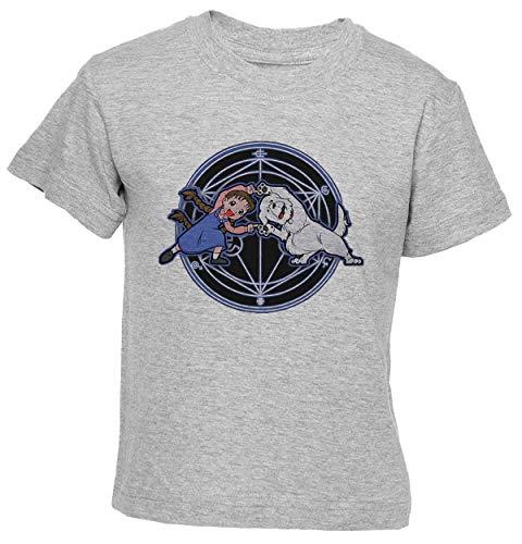 Delavi Niña Y Perro Fusión Camiseta Niño Niña Niños Gris T-Shirt Boys...
