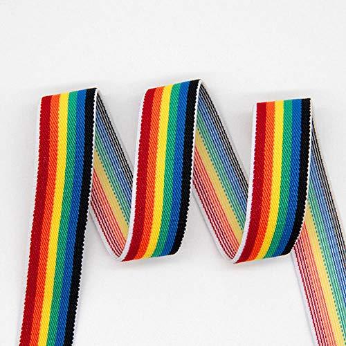 Piore-elastiekjes Rubber-elastiek 25 mm Luipaard-taillebanden DIY-kleding Ondergoed Broeken Naai-accessoires, regenboog