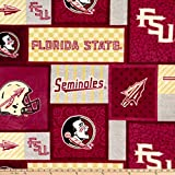 NCAA Florida State Seminoles Patch Fleece, Fabric by the Yard