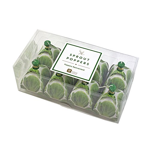 Talking Tables Botanical Christmas Sprout Party Poppers for Christmas Dinner and Party, Microfiber, Green (8 Pack)
