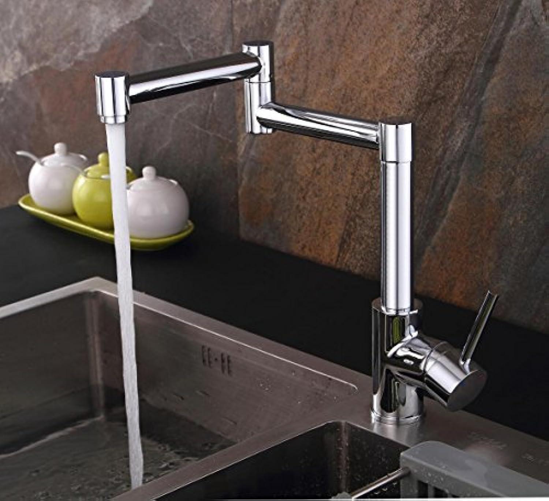 TH-115 Chrome Kreative Küche Wasserhahn Kupfer Heier Und Kalter Wasserhahn 360 Rotierenden Wasserhahn