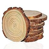 GRANDE CONFEZIONE: Questa confezione da 10 pezzi di legno darà ai tuoi lavori di artigianato un tocco rustico. Ciascuno varia da 10-11 cm di diametro e lo spessore varia anche se è di circa 10 mm. TOCCO VINTAGE: Ogni pezzo di legno è stato levigato p...