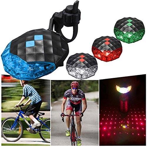 CPZ Luz de la Bicicleta de la Cola, Super Brillante luz Trasera de Bicicleta de montaña, la luz de Advertencia, Linterna de Seguridad, para la conducción, Cuatro Colores,Verde