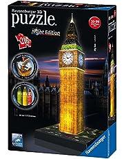Ravensburger 3D Puzzle 12588 - Big Ben bei Nacht - 216 Teile