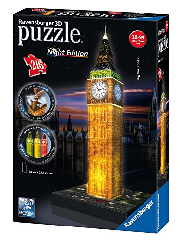 Ravensburger - Puzzle 3D - Building - Big Ben illuminé...