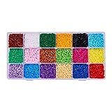 PandaHall 3000 unidades Cuentas de 2,5 mm tamaño mini abalorios hama beadsbeads18 Colors 2.5mm