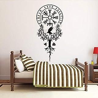 ZZLLL Viking Arbre Sticker Mural Viking Autocollant Mural Viking Maison décoration Murale Mobile Chambre Salon décoration ...