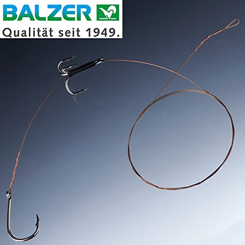 Balzer Matzes Posen Hecht Schaukel System 70cm 9kg - Hechtmontage zum Köderfischangeln mit Hechtpose, Stahlvorfach, Hechtvorfach, Hakengröße/Ködergröße:Gr. 4 + 2/0 / M für Köder von ca. 9-13cm