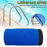 HIANG256 Cubierta de agarre para riel de piscina, escalera, escalera, pasamanos y barandilla, cubierta de agarres de alberca de 4 a 10 pies, No nulo, como se muestra en la imagen, 6 pies