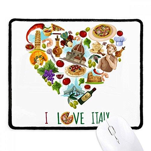 DIYthinker hart toren Pisa Rome Colosseum Spaghetti anti-slip muismat spel kantoor zwart Titched Edges Gift