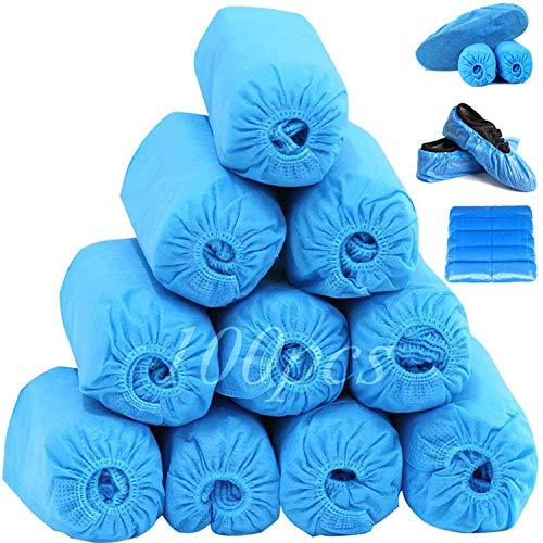 Blue Shoe Covers Disposable,Double rubber...