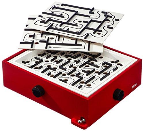 BRIO Spiele 34020 - Labyrinth mit Übungsplatten, rot