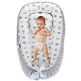 DaMohony - Tumbona para bebé, de algodón, transpirable, para dormir, dormir y dormir, para dormir, dormir y dormir Triángulo + corona Talla:90 x 55cm