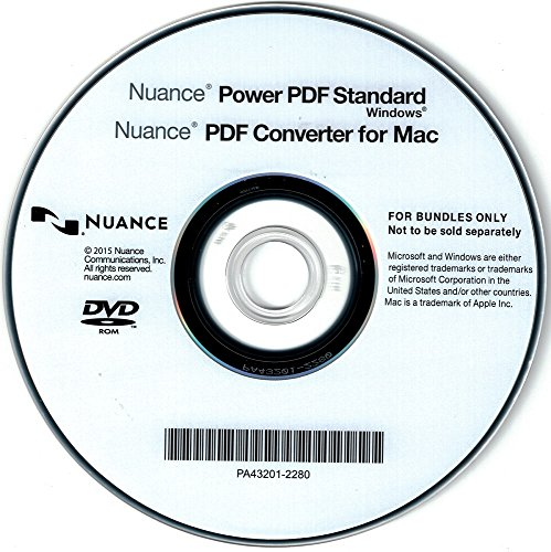 Nuance Power PDF Standard DEUTSCH - WINDOWS - OEM - Vollversion - DVD (inkl. PDF Converter for MAC)