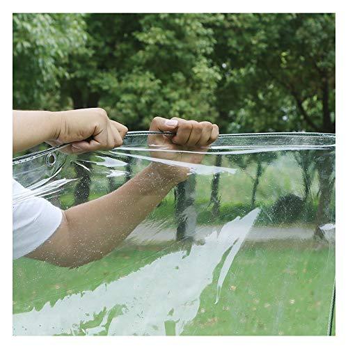 NAKANN 350g/m² Transparente Plane PVC wasserdichte Abdeckplane mit Ösen, 0,3mm Dick reißfest Allzweckplane Abdeckung für Gewächshaus Garten Pflanze Pool (Size : 2.4x2m/7.8x6.5ft)