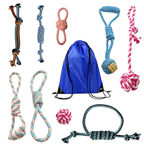 HENGI Hundespielzeug – Baumwollseil Spielzeug-Serie, Welpen-Spielzeug, Kauseil, Baumwollseil, Geschenk für kleine Hunde