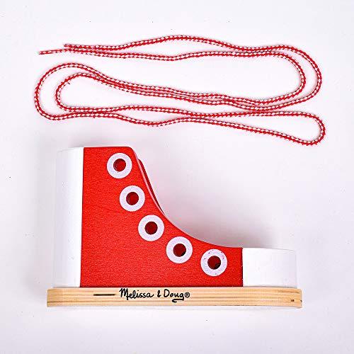 Melissa & Doug 13018 Holzschuh zum Schnüren, Mehrfarben - 3
