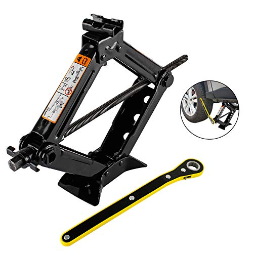 everbest4u Scissor Jack 2T Car Scissor Jack with Hand Crank Portable RV Stabilizers for Sedan and Coupe