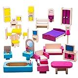Bigjigs Toys Heritage-Spielset Puppenmöbel-Garnitur