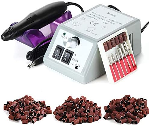 Electric Nail Drill machine Professional GreenLife 20000rpm 150pcs sandings Set efile Kit for product image
