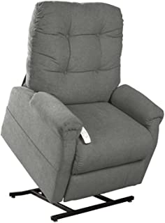 """NM-4001 Mega Motion (Windermere) (Pebble) Power Lift Recliner Chair. Weight Capacity: 325 lb. Suggested User Height: 5'4""""- 5'8"""". Free Curbside Delivery"""
