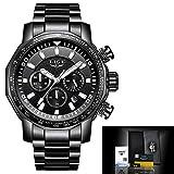 Deciduous 2020 LIGE Superior de la Marca Hombre Relojes Completo Reloj de Acero Hombre Militar Impermeable del Deporte del Reloj de los Hombres del Reloj de Cuarzo Relogio Masculino,02