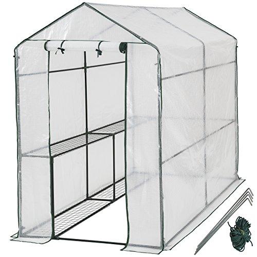 TecTake 800284 - Gewächshaus, Schützt Pflanzen vor Kälte, Regen und Frost - Diverse Modelle (186x120x190 cm | Nr. 401861)