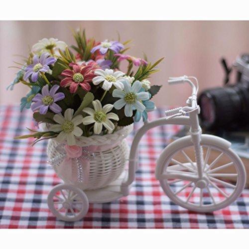 2018 Decoratieve bloemen Home Accessoires Kleine Auto Feng Shui Kunstbloemen (zeer veel kleur) Decoratieve Fake Bloemen Simulatie Bloemen Green Potted Woonkamer Fiets Slaapkamer Huishoudelijke voorwerpen, #102