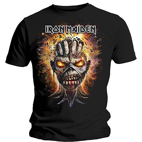 Iron Maiden T Shirt Book of Souls Eddie Exploding Head Ufficiale Uomo nuovo nero