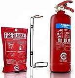PREMIUM UK 2 kg juego de extintor con manta de fuego