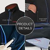 CONQUECO Damen Beheizte Jacke Beheizbare Heiz Jacke warm mit Akku und Ladegerät zum Outdoor Arbeiten (schwarz, L) - 2