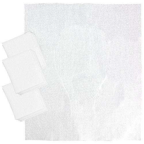 COM-FOUR® 30x beschermkussen voor toiletbril, hygiënische toiletbrilpads van papier voor eenmalig gebruik, 44x37cm (30 stuks)