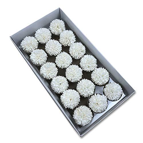 TCBH Savon Fleur Savon Chrysanthème en Boîte Cadeau Spécial Cadeau pour Femmes, Filles, Voisin (Blanc)