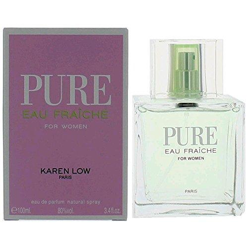 Pure Eau Fraiche by Karen Low, 3.4 oz EDP Spray for Women