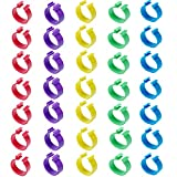 Minelife 100 Pack Chicken Identification Leg Bands Rings, Poultry Leg Bands Clip On Leg Rings for Chicks, Ducks, Chicken, Goose, Pigeons(5 Colors)