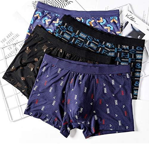 JIUMENG Men's Boxer Briefs Underwear Men's Comfortable Viscose Underwear