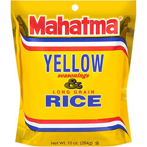 Mahatma Yellow Seasonings & Long Grain Rice, Gluten-Free, Non-GMO, Vegan, 10 oz Bag