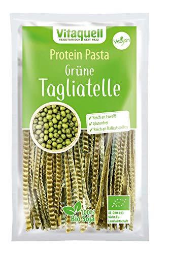 Soja Grüne Tagliatelle Bio, 200 g Low Carb Protein Sportler-Nudeln I eiweißreich + glutenfrei