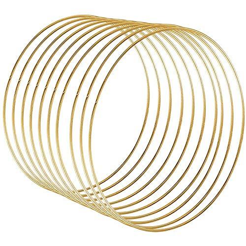 Cuasting Paquete de 10 anillos de aro de metal de 25,4 cm para corona, atrapasueños y manualidades para colgar en la pared