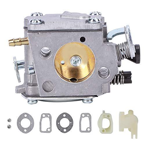 Carburador de motosierra de aluminio Carburador ligero Kit de motosierra de repuesto con tubo de admisión para HUSQVARNA 61/266/268/272XP