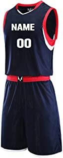 Personalized Custom Name Printed Basketball Jersey Sportswear Team Uniforms 2 Piece Set. Front & Back Name/Number. V Neck.
