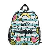 BIGJOKE Mochila para niños, diseño de sandía Tropical de Agosto, para niños y niñas